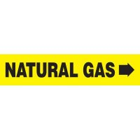 Natural Gas With Arrow Pipe Markers