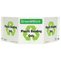 Plastic Banding Tri View Recycling Sign
