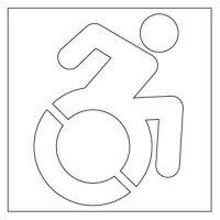 Plastic Graphic Stencils - Accessible Icon