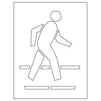 Plastic Graphic Stencil - Pedestrian Crossing Pavement Tool S-5035 D