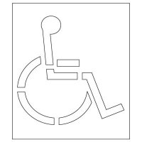Plastic Graphic Stencil - California Disabled Parking Pavement Tool S-3048 D