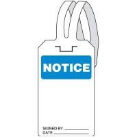 Notice Self-Fastening Tag