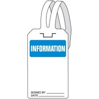 Information Self-Fastening Tags