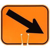 Plastic Traffic Cone Signs- Arrows Lower Right