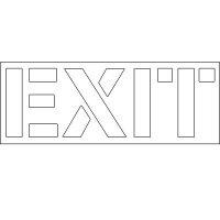 Plastic Wording Stencils - Exit