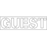 Plastic Wording Stencils - Guest