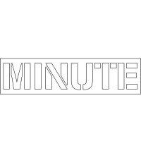 Plastic Wording Stencils - Minute