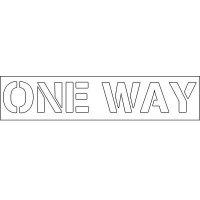 Plastic Wording Stencils - One Way