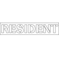 Plastic Wording Stencils - Resident