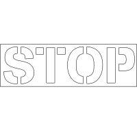 Plastic Wording Stencils - Stop