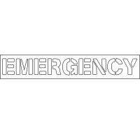 Plastic Wording Stencils - Emergency