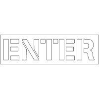 Plastic Wording Stencils - Enter