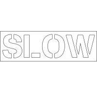 Plastic Wording Stencils - Slow