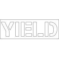 Plastic Wording Stencils - Yield