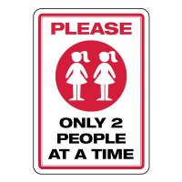 Please Only 2 People at a Time Girls Room Sign