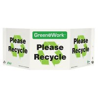 Please Recycle Tri View Recycling Sign
