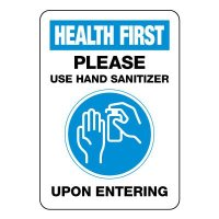 Please Use Hand Sanitizer Upon Entering Sign