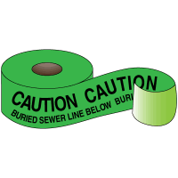 Underground Warning Tape - Caution Buried Sewer Line Below