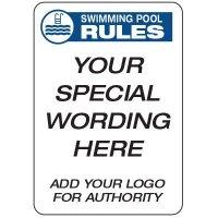 Pool Rules  - Custom School Safety Signs
