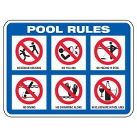Pool Rules With Graphics - Pool Signs
