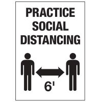 Practice Social Distancing 6FT Label