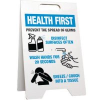 Prevent the Spread of Germs Floor Stand Sign