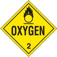 Oxygen Hazardous Material Placards