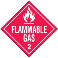 Flammable Gas Hazardous Material Placards