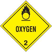 Oxygen Hazard Class 2 Material Shipping Labels