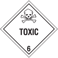 Toxic Hazard Class 6 Material Shipping Labels