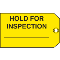 Hold For Inspection Maintenance Tags