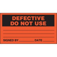 Defective Do Not Use Status Labels