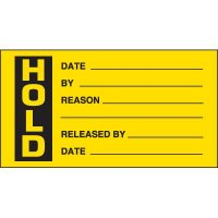 Hold Production Status Labels