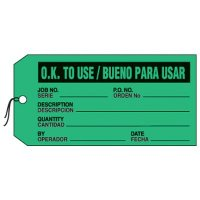 Bilingual OK To Use Production Status Tags