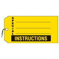 Special Instructions Production Status Tags