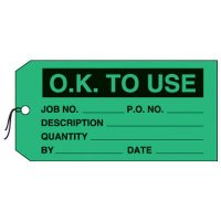 OK To Use Production Status Tags