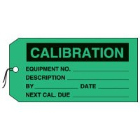 Calibration Production Status Tags