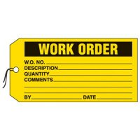 Work Order Production Status Tags