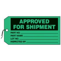 Approved For Shipment Production Status Tags