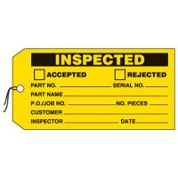 Inspected Production Status Tags