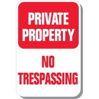 Private Property No Trespassing Vertical Sign