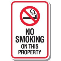No Smoking On This Property Signs