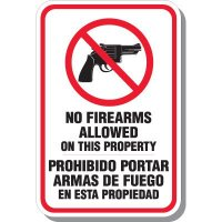 Bilingual No Firearms Allowed Signs