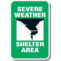 Sever Weather Shelter Area Sign