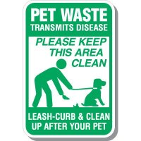 Pet Waste Transmits Disease Sign