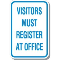 Visitors Register At Office Signs
