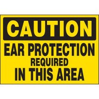 Ear Protection Required In Area Labels