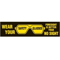 Wear Safety Glasses Labels