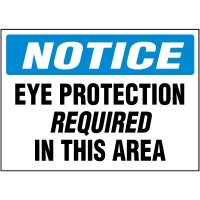 Notice Eye Protection Labels