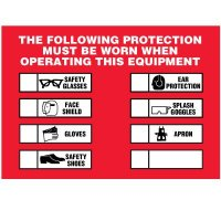Protection Must Be Worn Labels